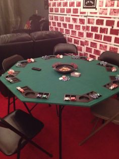 My Roaring 20s Party:  Poker Table