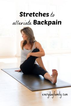 If your back aches at the end of the day, these stretches and preventative measures may help.