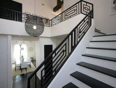 Wrought Iron Contemporary Staircase Design