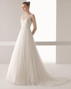 Ina vestido de novia soft Rosa Clara
