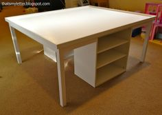 """That's My Letter: """"L"""" is for Lego Table - could also be used for puzzles or in a craft room"""