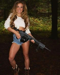 RED NECK HAVING FUN::: sexy girls hot babes with guns beautiful women weapons  #girlswithguns #babeswithguns #hotgirlswithguns