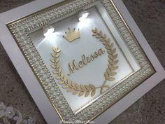 Box Frame Art, Box Frames, Communion Invitations, Baby Art, Baby Bedroom, Baby Decor, Baby Sewing, Beaded Flowers, Shadow Box