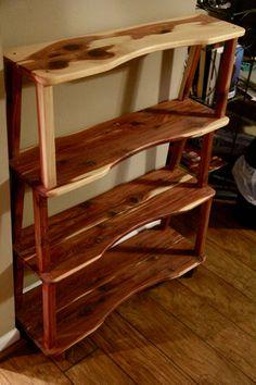 bookshelf cedar bookshelf wooden bookshelf by RustysWoodworking