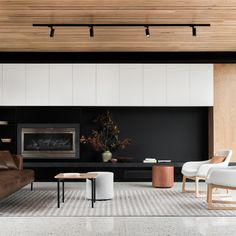 Figr Architects Courtyard House Templestowe Melbourne Modern Living Room