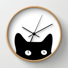 Black Cat Wall Clock More