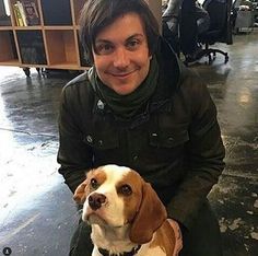 JUST LOOK AT HIM, HE'S SO CUTE!!!! (I'm not talking about the dog. You know that right?)