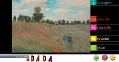 Joue avec Claude Monet : application iPad à expérimenter pour les 6/10 ans. #sourisgrise