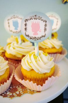 Project Nursery - Royal Baby Shower Silhouette Cupcake Toppers