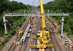Network Rail is replacing overhead line equipment between Shenfield and Liverpool Street.