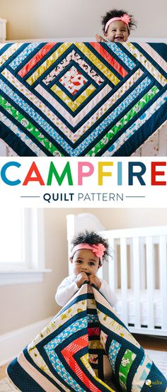 Sewing Projects Cotton and Steel Quilt Pattern Jellyroll Quilts, Easy Quilts, Kid Quilts, Scrappy Quilts, Diy Sewing Projects, Sewing Crafts, Baby Quilt Size, Quilt Baby, Scrap Quilt Patterns