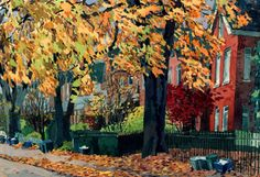 Fall in TO Toronto, Fall, Plants, Painting, Autumn, Painting Art, Flora, Paintings, Painted Canvas