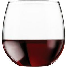 Libbey 16.75-oz. Stemless Red Wine Glasses, Set of 8. So awesome, no stem to worry about breaking, plus its less wobbly.