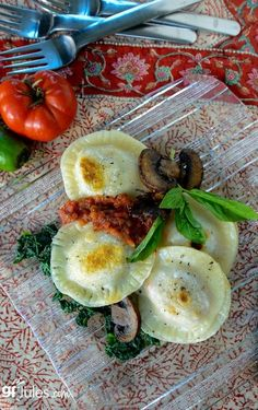 Gluten Free, Vegan and EASY! You simply won't believe how delicious, quick and problem solving this recipe is! Fill with your favorites and meal time is fun again! #glutenfree #vegan #ravioli #pasta