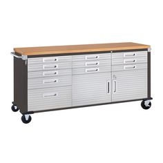 Rolling Workbench, Rearranging Furniture, Soft Close Drawer Slides, Stainless Steel Cabinets, Hobby Room, Small Drawers, Storage Compartments, Drawer Fronts, Cabinet Doors
