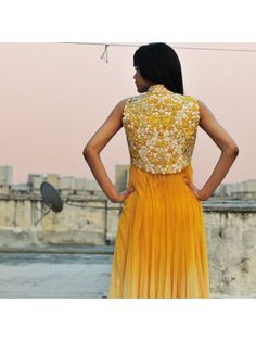 Buy Yellow Anarkali dress - Latest Anarkali Dress – Jacket Style Anarkali - Indian Anarkali Suits Online