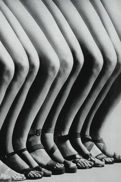 Legs by Guy Bourdin, Vogue Paris 1971. This would have been a great soccer team pic