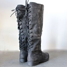 laced up weathered riding boots - 2 colors – shophearts