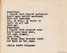 The first sentence made my heart stop • new favourite TKG poem - Typewriter Series #465by Tyler Knott Gregson