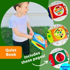 Montessori activities in this adorable handmade quiet book, perfect for busy kids on the go! #playtolearn Preschool Activity Books, Montessori Activities, Kindergarten Activities, Book Activities, Travel Toys, Books For Boys, Best Birthday Gifts, Busy Book, Sensory Toys