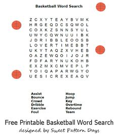 Basketball Word Scramble | Activity Printables | Pinterest ...