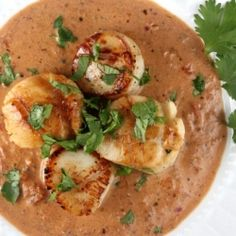 A Rick Bayless recipe for seared sea scallops with jalapeno cream sauce