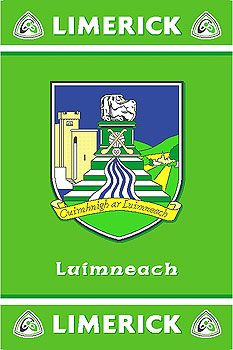 Quality Irish GAA County Rug showing the official Limerick GAA logo. Officially licensed with permission from GAA. Limerick City, Emerald Isle, Ireland, Irish, Rugs, Sports, Art, Hs Sports, Art Background