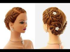 Прическа в школу: плетение косы из 4-х прядей. Hairstyle for school (4 Strand Braid) - YouTube
