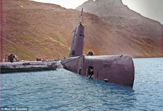 The Argentine submarine Santa Fe which Parry disabled