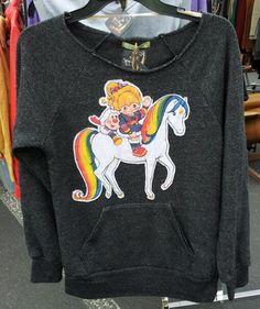 Rainbow Brite Eco Fleece Sweatshirt Dark Grey by SpiralingNature, $38.00