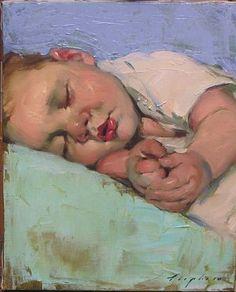 Malcolm Liepke-'Sleeping Baby'-Telluride Gallery of Fine Art