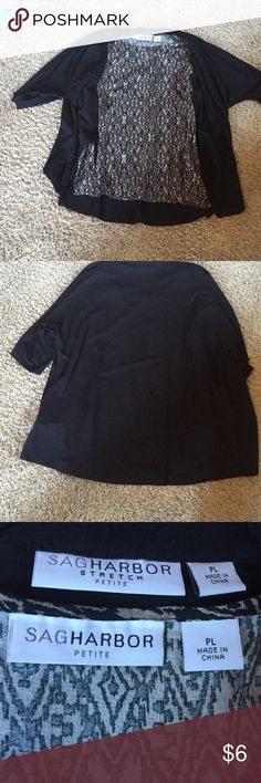 3/4 Sleeve Sag Harbor 3/4 Sleeve Sag Harbor Top Size LP in Great Condition. The two pieces could be separated by cutting small string (see pic) to make this item more versatile. Bundle to save. Reasonable offers and trades welcome. Sag Harbor Tops Blouses