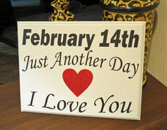 Valentine's Day Plaque With Glitter heart and by 3GCustomGraphics