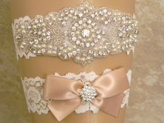 Wedding Garter, Garter Set, Bridal Garter, Wedding Garter Set, Pearl and Rhinestone Garter and Toss Garter, Lace Garters, YOU CHOOSE COLOR