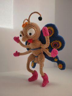The Butterfly. Toy crochet pattern PDF  decorative by ToyMagic, €3.49