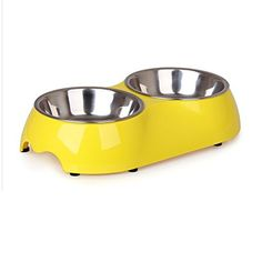 SYSTOND Pet Stainless Steel Bowl for Dogs and Cats Food and Water Bowl Pet Feeder Bowl(Yellow S) --- The details can be found by clicking on the image. (This is an affiliate link and I receive a commission for the sales) Diner Recipes, Diner Food, Stainless Steel Bowl, Plastic Bowls, Dishwashing Liquid, Pet Feeder, Bowl Designs, Dog Store, Little Dogs