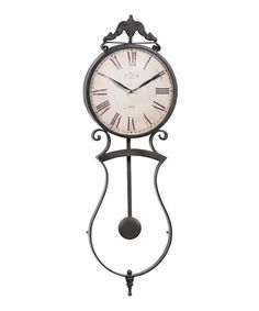 Take a look at this Rust Pendulum Wall Clock by Country Home: Decor & Accents on #zulily today!