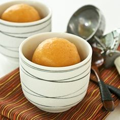 Cantaloupe and Mango Sorbet, a refreshing treat for warm summer days