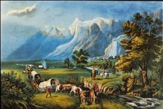 """Vintage 15"""" x 11.75"""" Currier and Ives Quality Print # 22, Suitable for Framing #Vintage"""