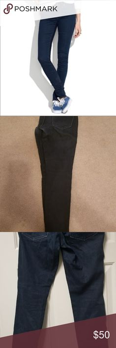 MADEWELL Women's Size 28 Size 6 Skinny Low Worker 💙👖PREMIUM DENIM!👖💙 Please Study Photos Very Carefully!!! ZOOM IN on Hems Pockets & Seat!!! SEE Detail Color & Condition!!   #Hashtags: Anthro Anthropologie Buckle Dojo 7 All Mankind Citizens Humanity Miss Me True Religion Rock Revival AG Hudson BKE J Brand Paige Madewell Crew Dark Wash Skinny Cut Off Short Crop Boot Straight Boyfriend  #ADD2BUNDLE Madewell Jeans Skinny