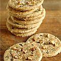 Un petit cracker, c'est toujours sympa à grignoter ... Une variante de ces crackers multi-grains là(clic) , mais les... Healthy Meals For Kids, Kids Meals, Healthy Recipes, Healthy Food, Crackers, Muffins, Macaron, Fodmap, Crepes