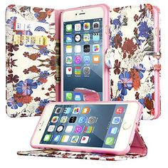 "iPhone 6/6S Plus Wallet Case, Dimaka Flora Cute Leather Wallet Case with Perfection Pattern Design for iPhone 6/6S Plus 5.5"" (Ink Flower) Dimaka http://www.amazon.com/dp/B01954N9RM/ref=cm_sw_r_pi_dp_h8LIwb1E3GQGS"