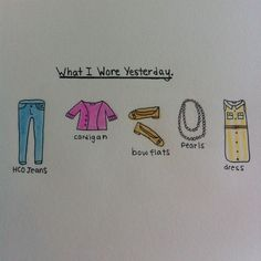 Fun way to remember favorite outfits! (: