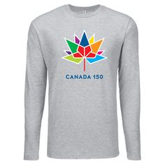 Canada 150 Long Sleeve Tshirt  Canada 150 Apparel Collection by North and Oak