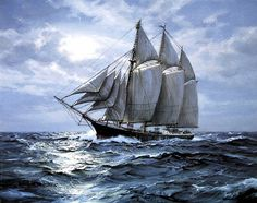"""The last Christmas Tree ship of the Great lakes, """"The Rouse Simmons"""" Lago Michigan, Old Sailing Ships, Ship Paintings, Nautical Art, Ship Art, Tall Ships, Great Lakes, Culture Travel, Prints"""
