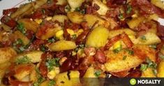 Vegetable Recipes, Chicken Recipes, Mexican Potatoes, Vegas, Good Food, Yummy Food, Mexican Food Recipes, Ethnic Recipes, Bab