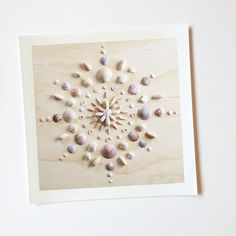 Print of original mandala design by Vicki Rawlins Original mandala design made completely of collected shells from the shores of the Atlantic A mandala is commonly known as a spiritual symbol represen Seashell Art, Seashell Crafts, Beach Crafts, Seashell Display, Creative Crafts, Fun Crafts, Arts And Crafts, Paper Crafts, Hero Crafts