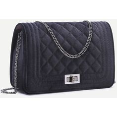 Black Velvet Quilted Mini Flap Chain Bag ❤ liked on Polyvore featuring bags, handbags, quilted handbags, miniature purse, mini bag, quilted chain handbag and quilted purses