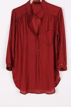 Silky Collin Shirt in Burgundy