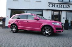 I WILL have this car!!! Audi Q7 ☆ Girly Cars for Female Drivers! Love Pink Cars ♥ It's the dream car for every girl ALL THINGS PINK!